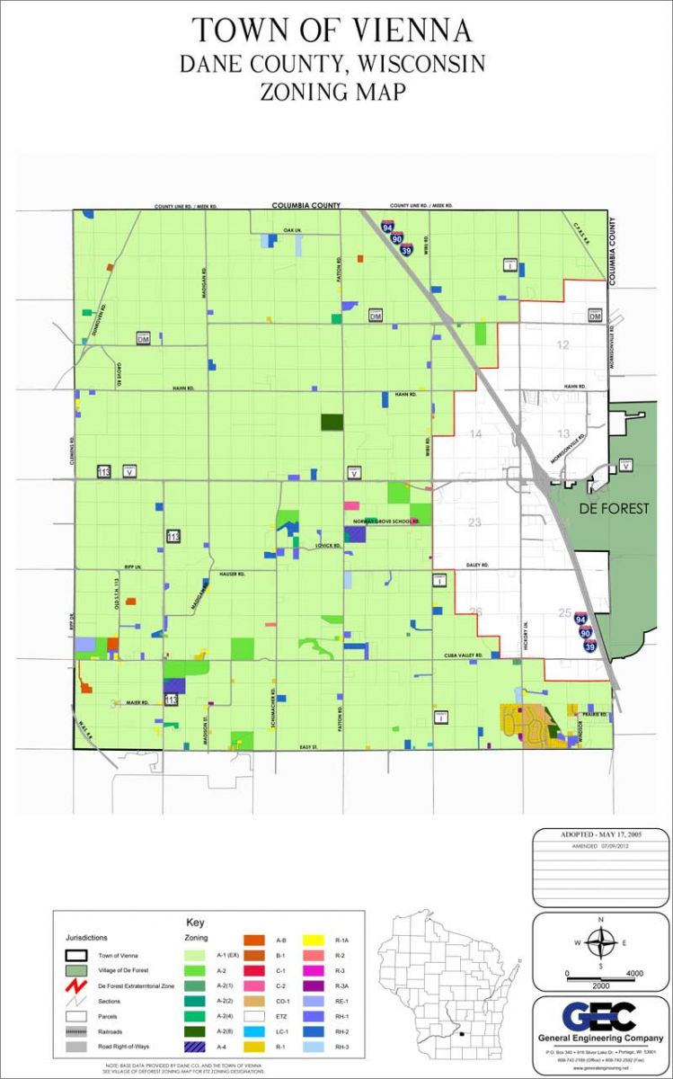 Maps | Town of Vienna, Dane County, Wisconsin Dane County Gis Map on